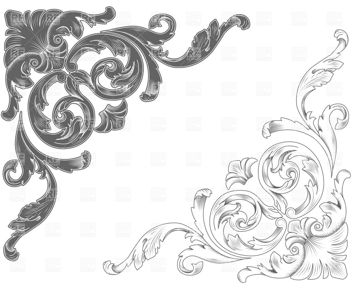 Classic clipart Horse Clipart decorative Classic Vector