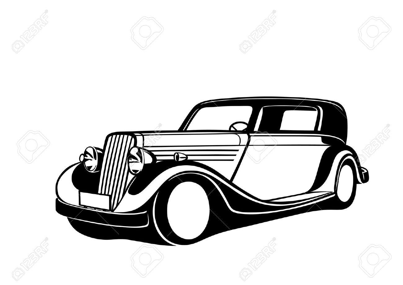 Classic clipart antique car #3