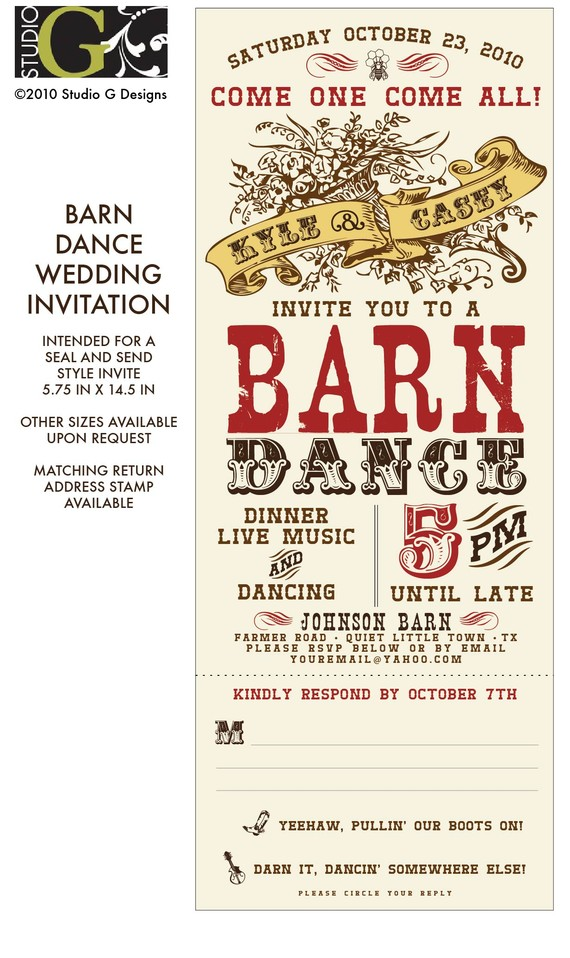 Classic clipart barn dance Wedding and Barn VINTAGE DANCE