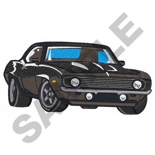 Classic clipart classic muscle car  Car Embroidery Machine Classic