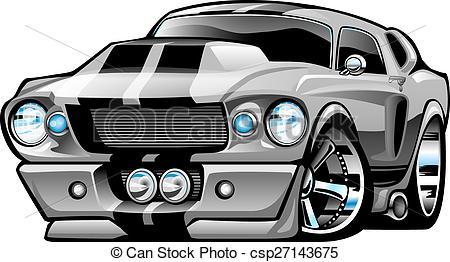 Classic clipart classic muscle car  Vectors Car Muscle csp27143675