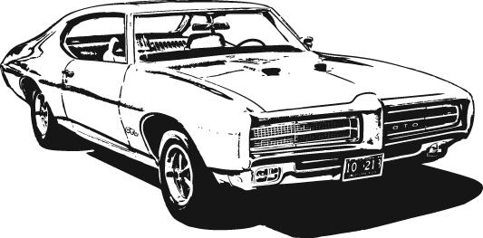 Classic clipart classic muscle car Car clipart car muscle ClipartAndScrap