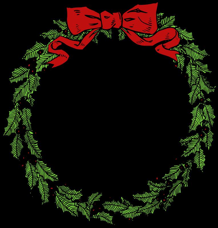 Wreath clipart vintage christmas wreath Clipart Download Wreath Art Clipart