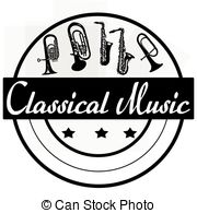 Classical clipart 24 055 music stamp on