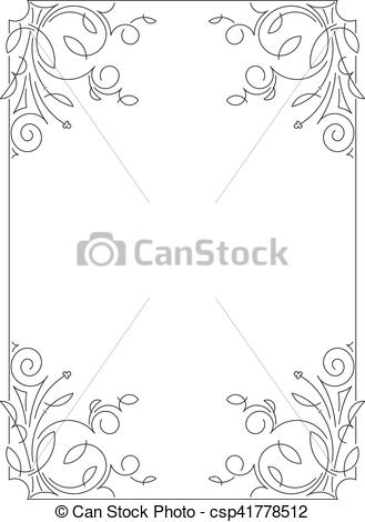 Classical clipart calligraphy Calligraphic simple of Clip style