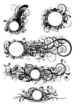 Classical clipart design pattern Search banner floral of swirl