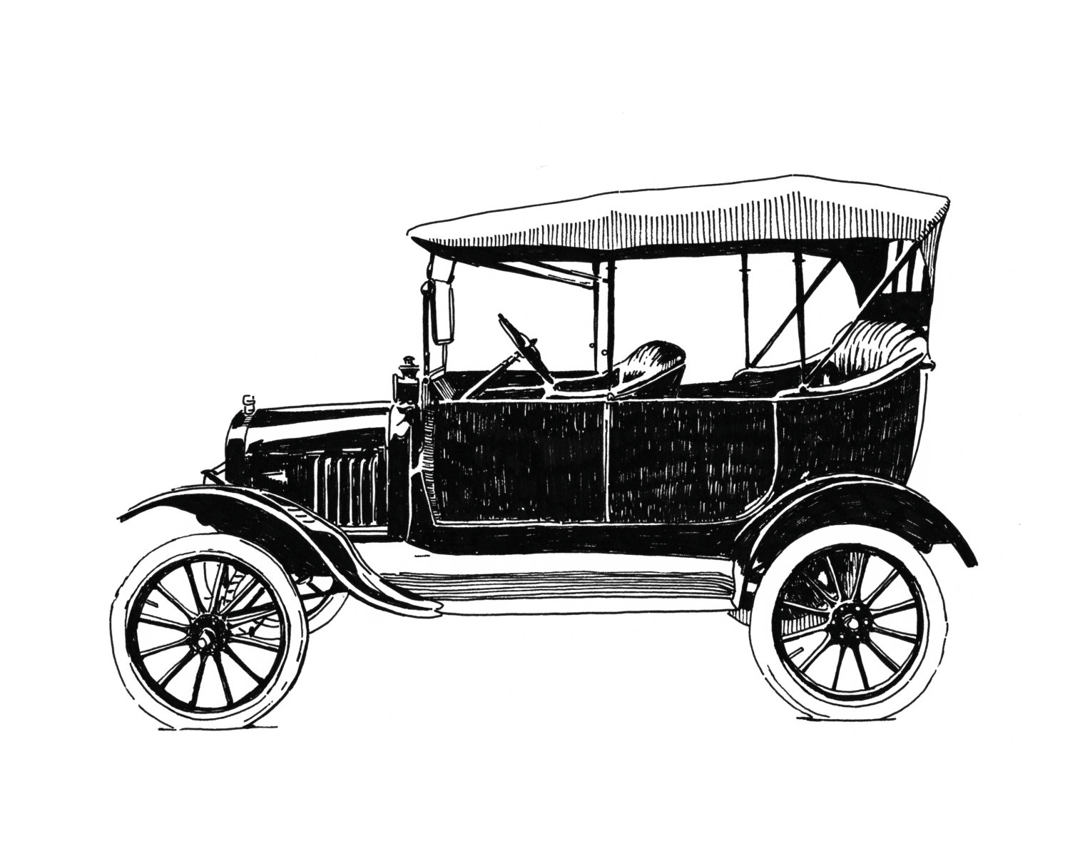 Classical clipart ford model t  T 8x10 Model Giclee
