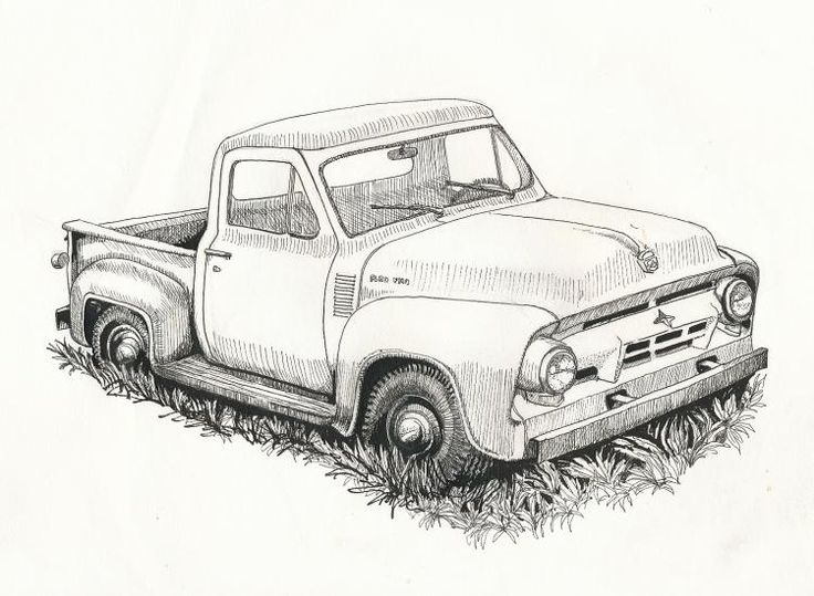 Classical clipart ford truck Google drawings of Search burning