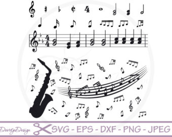 Classical clipart vintage tag MUSIC Paper Art: cut Art