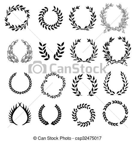 Classical clipart wreath Art Set laurel laurel symbol