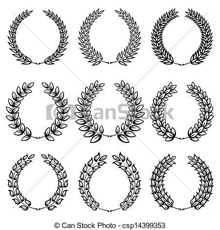 Classical clipart wreath Black Laurel Clipart  of
