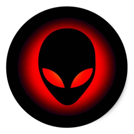 Classic clipart alien Extraterrestrial Round Alien Head Sticker