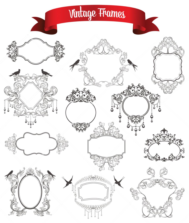 Classic clipart wedding decoration Wedding file a Clip Corners