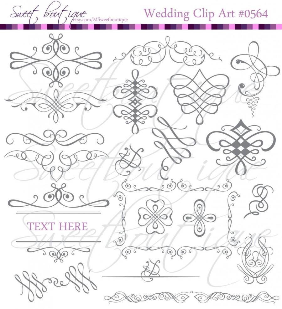 Decoration clipart classic Decoration Retro GRAY Calligraphic Page