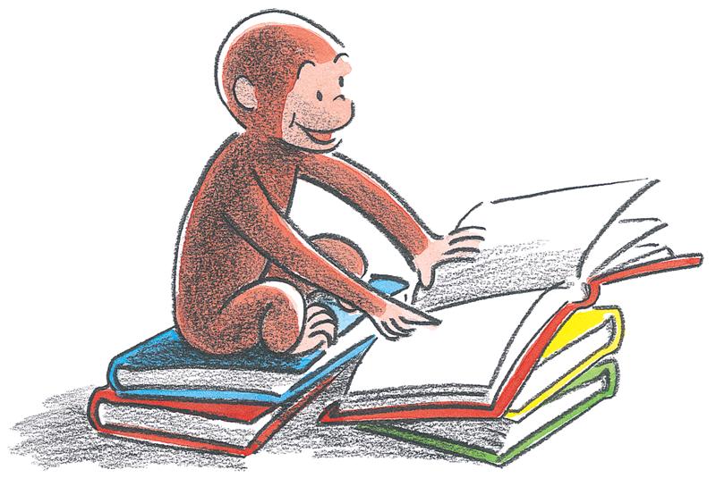 Classics clipart curious george George Curiosity Curious George reading