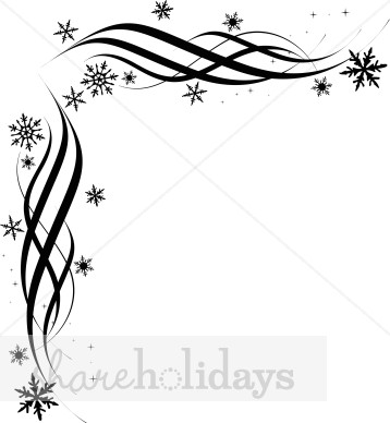 Holydays clipart corner 26KB and Snowflake accents clipart