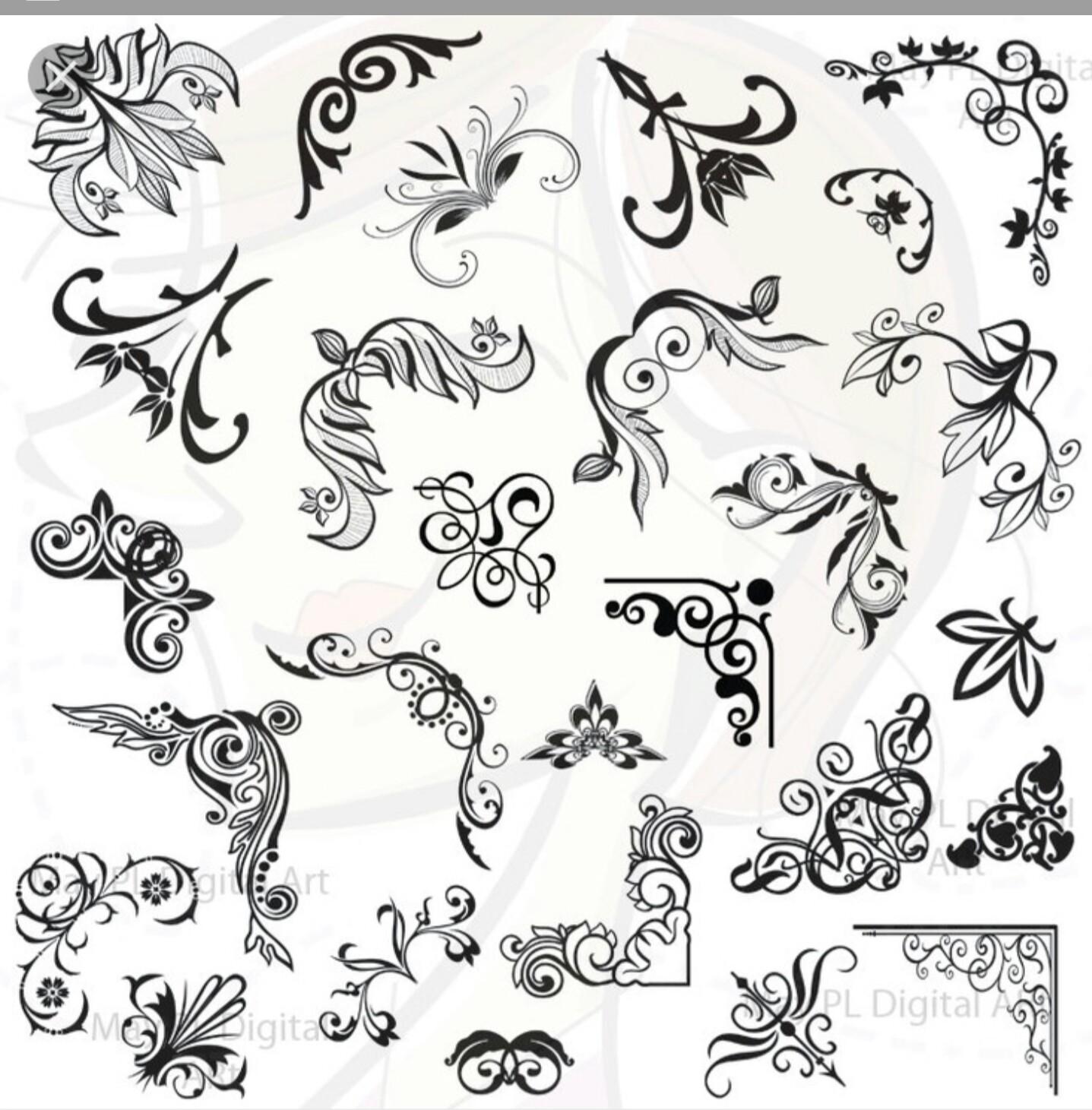 Calligraphy clipart classic Pin Art this and Ukrasi