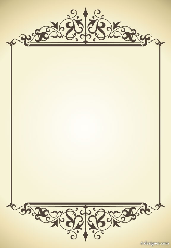 Classical clipart design pattern Art material Borders Page Free
