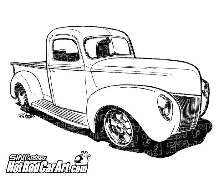 Classic clipart ford truck Pickup 1940 17 Pinterest best