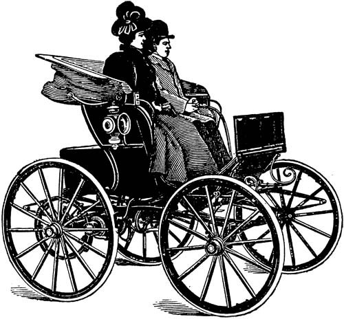 Classic clipart vintage line Art Victorian carriage illustration wagon