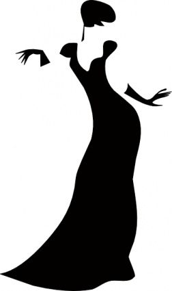Classy clipart 1920s best images Lady Silhouette