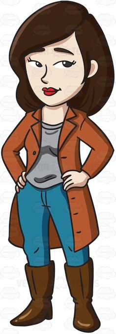 Classy clipart confident man A Woman in #cartoon walking