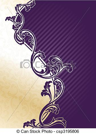 Classy clipart purple Art and gold of