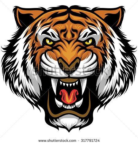 Tigres clipart mean #5