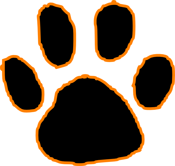 Bobcat clipart tiger paw With Black Art Free Paw