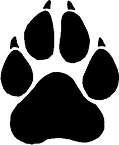 Wildcat clipart panther paw Best Logo  Stencils Animal