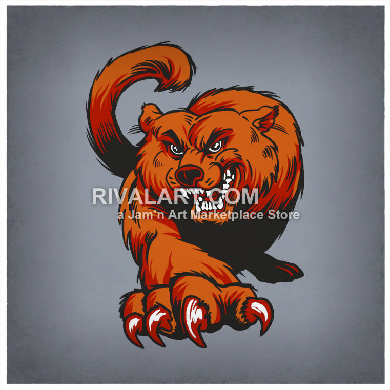 Wildcat clipart bearcats Color With Vector Bearcat Claws