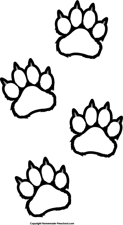 Tiger Print clipart tiger paw #9