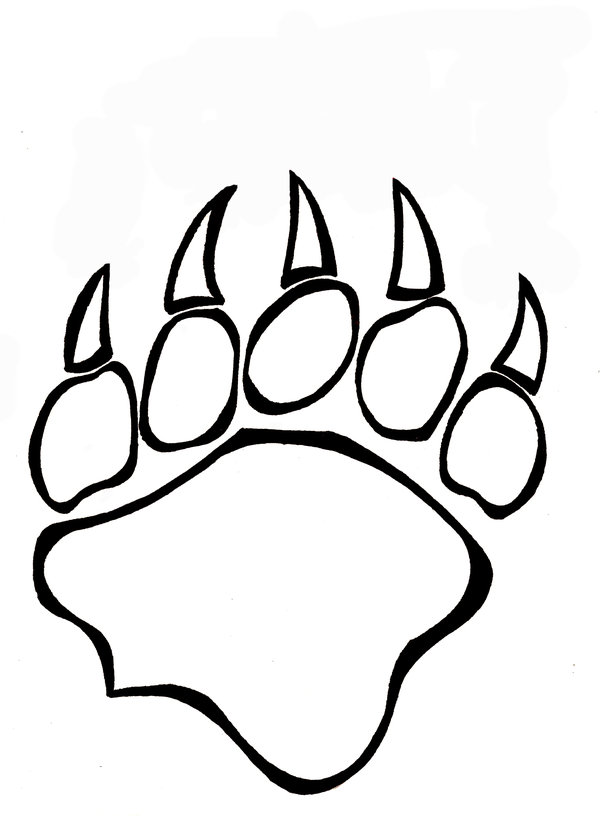 Drawn grizzly bear vector Paw Free Download on Bear
