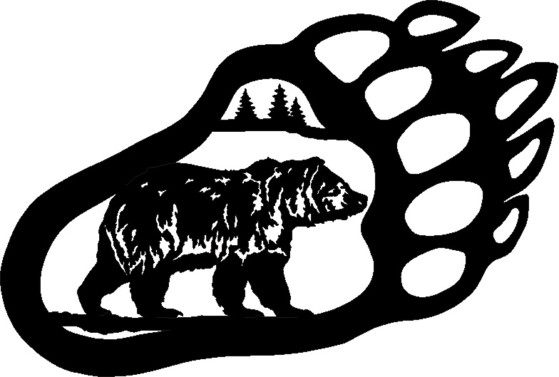 Drawn grizzly bear hand drawn Black and White Claw Bear
