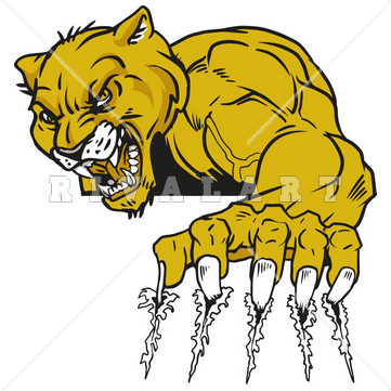 Wolverine clipart animal claw Clipart Image Mascot Marks Cougars