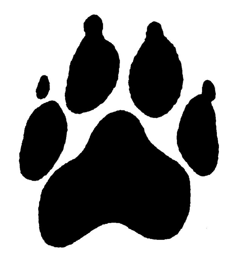 Footprint clipart dog Clipart Dog free Dog Paw