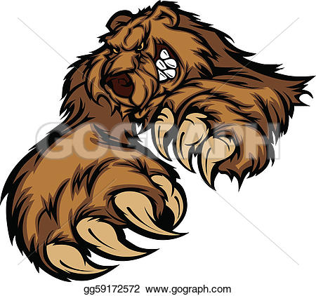 Drawn grizzly bear vector Bear Art Clipart Drawing mascot
