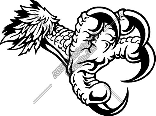 Drawn falcon easy Clipart Eagle Claw 101 10