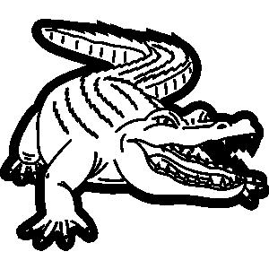 Reptile clipart alligator #9