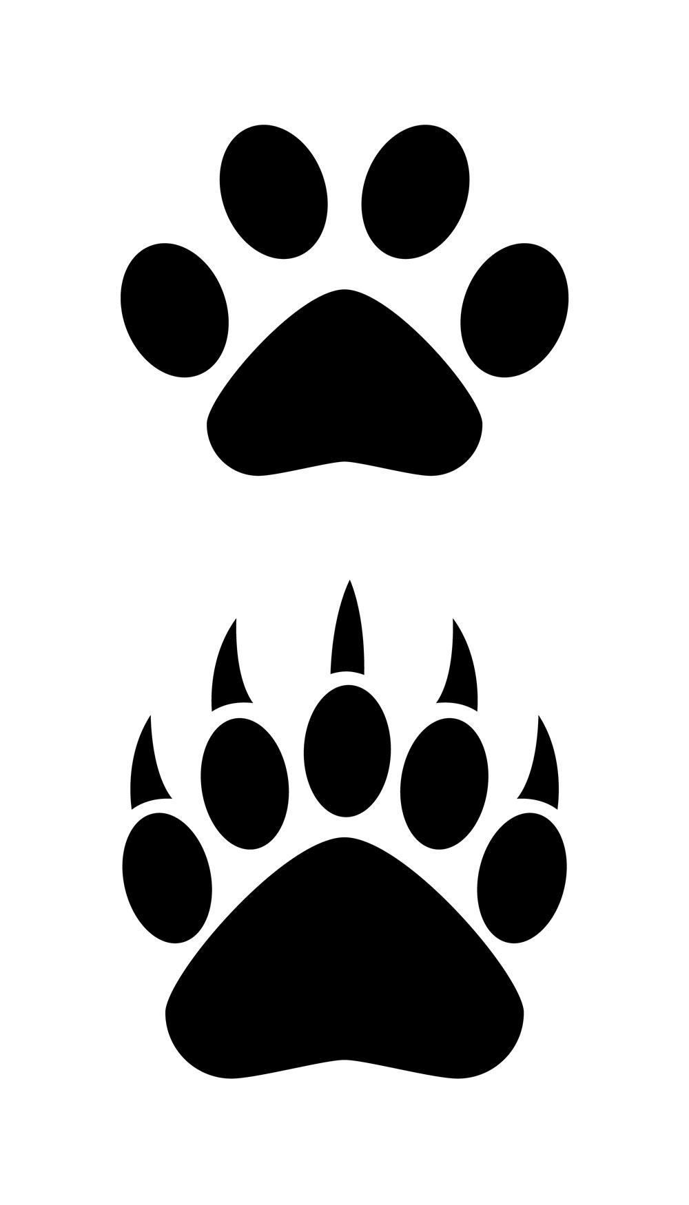 Paw clipart black bear Paw Bear logo clipart WikiClipArt