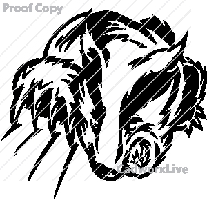 Honey Badger clipart wolverine claw #15