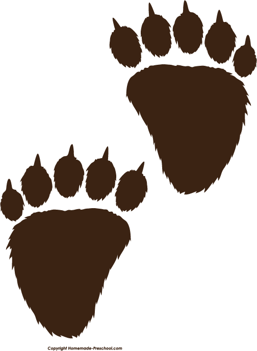 Grizzly Bear clipart paw print #14