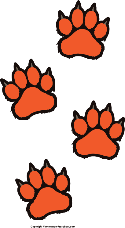 Orange clipart tiger paw Image Free Save Paw Prints