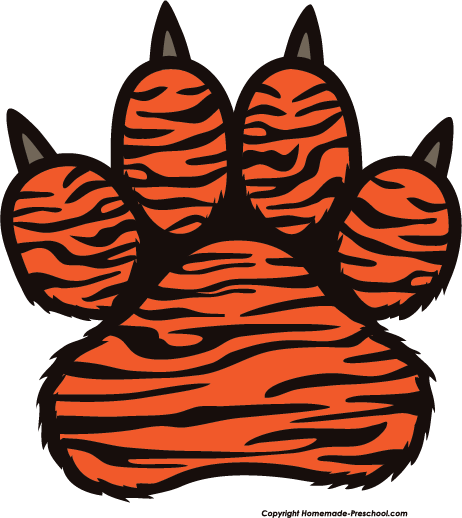 Tiger Print clipart tiger paw #8