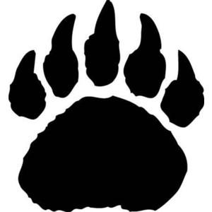 Paw clipart black bear Bear Polar paw print clipart