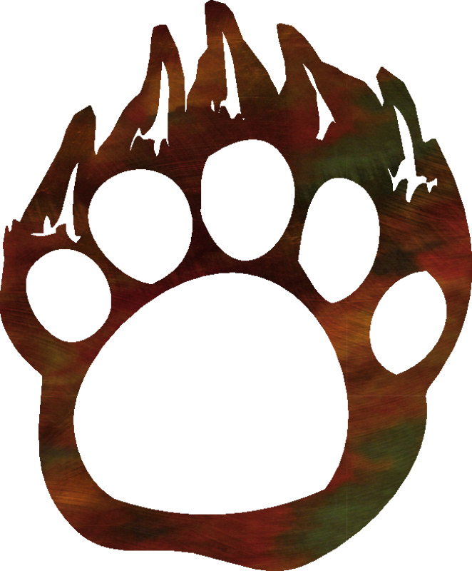 Grizzly Bear clipart paw print #7