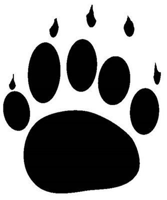 Grizzly Bear clipart paw print #10