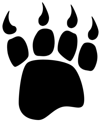 Paw clipart black bear Free Free clip art collection