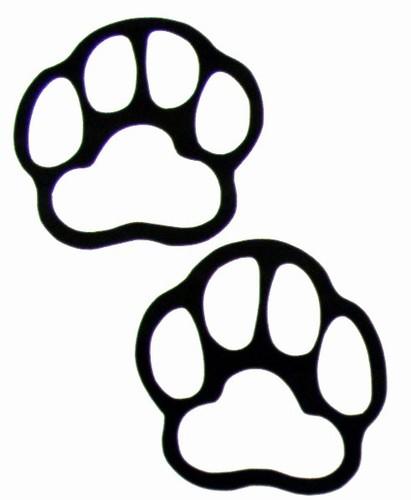 Footprint clipart polar bear Bear print paw Grizzly bear