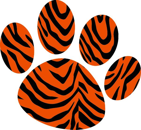 Orange clipart tiger paw Tiger Tiger Claw clip image